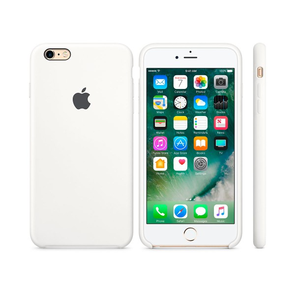 Apple mky12zm/a blanco carcasa de silicona iphone 6s/6