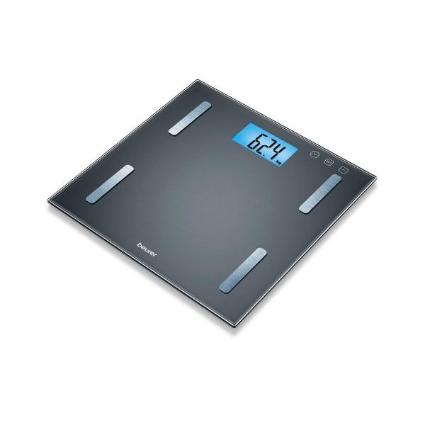 Beurer bf 180 báscula de diagnóstico diferentes cálculos de peso y salud pantalla lcd extragrande azul