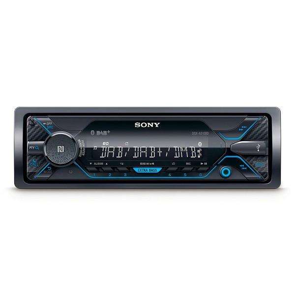 Sony dsx-a510bd receptor de multimedia dab+ bluetooth 4x55w para el coche con control por voz extrabass usb y aux