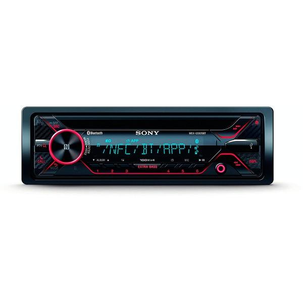 Sony mex-gs820bt receptor de cd con bluetooth 4x100w para el coche con control por voz extrabass usb y aux