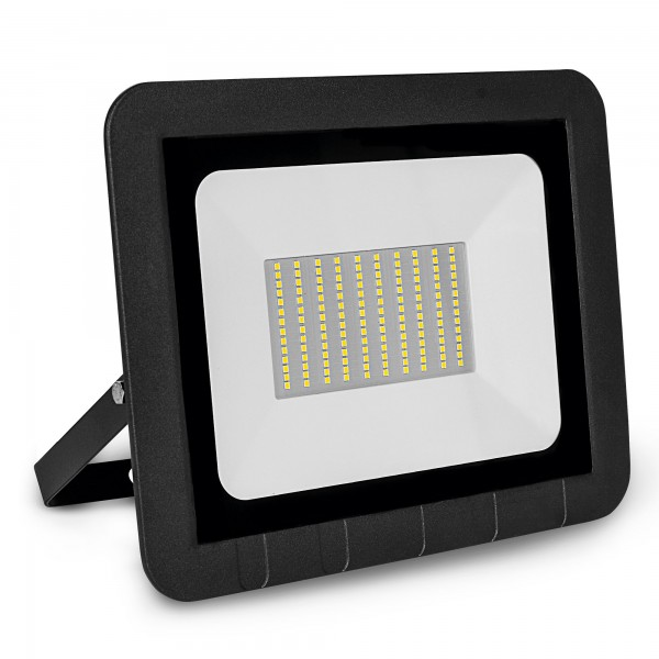 Proyector led plano negro   75w.fria