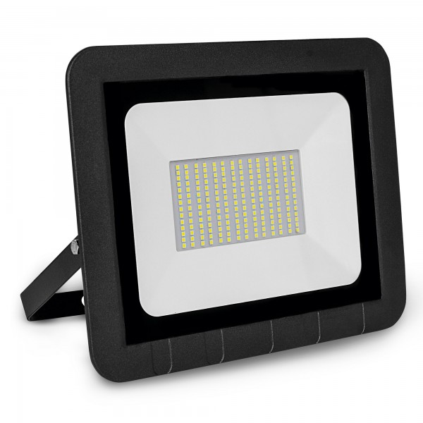 Proyector led plano negro  100w.fria