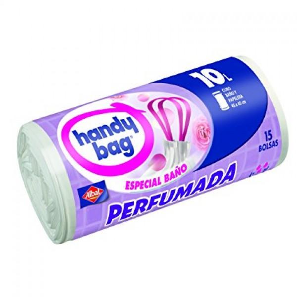 Handy bag bolsas basura perfumada especial baño 15 bolsas