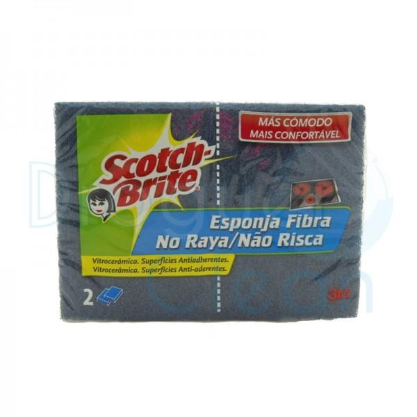 Scotch-brite no raya esponja fibra duplo vitrocerã¡mica