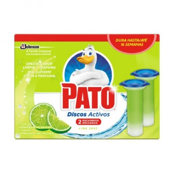 Pato discos activos 4 en 1 lima fresca recambio caja 2u.