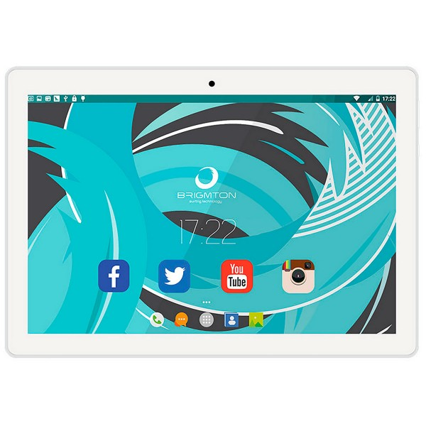 Brigmton btpc1021 blanco tablet 3g dual sim 10.1'' ips/4core/16gb/1gb ram/2mp