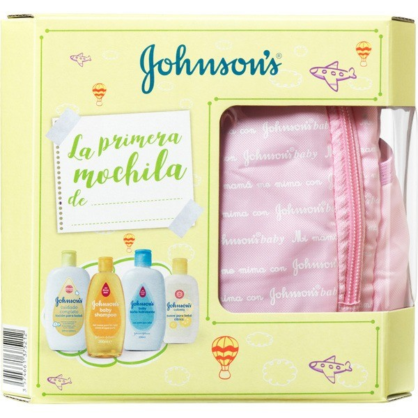 JOHNSONS BABY MOCHILA ROSA 4 U