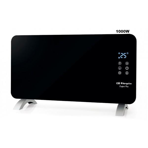 Orbegozo reh-1060 radiador negro 1000w con panel radiante de cristal templado