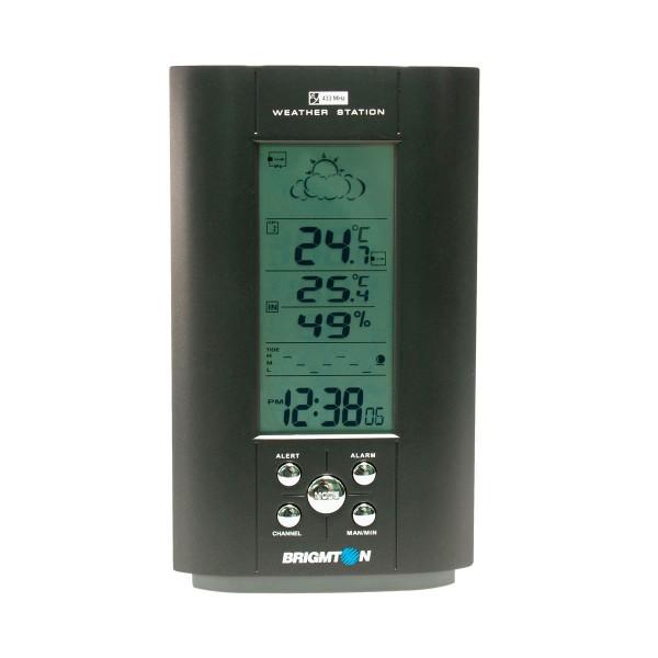 Brigmton bem-500 negro estación meteorológica interior/exterior rf 433 mhz