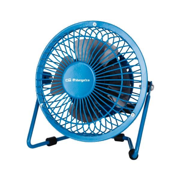 Orbegozo pw1020 azul mini ventilador de sobremesa usb