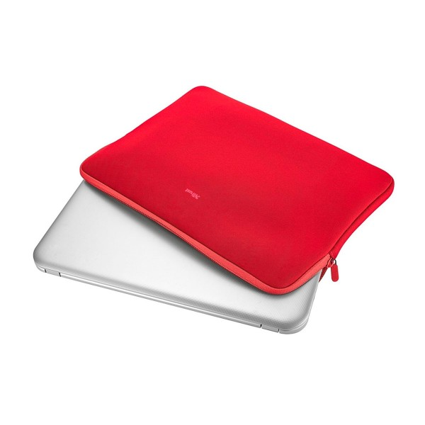Trust primo soft sleeve rojo funda protectora suave para portátiles de 11,6