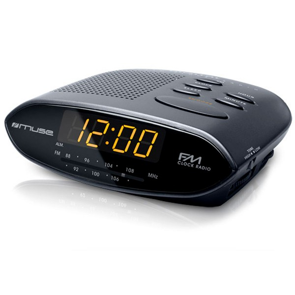 Muse m-10 cr negro radio analógica sobremesa fm snooze