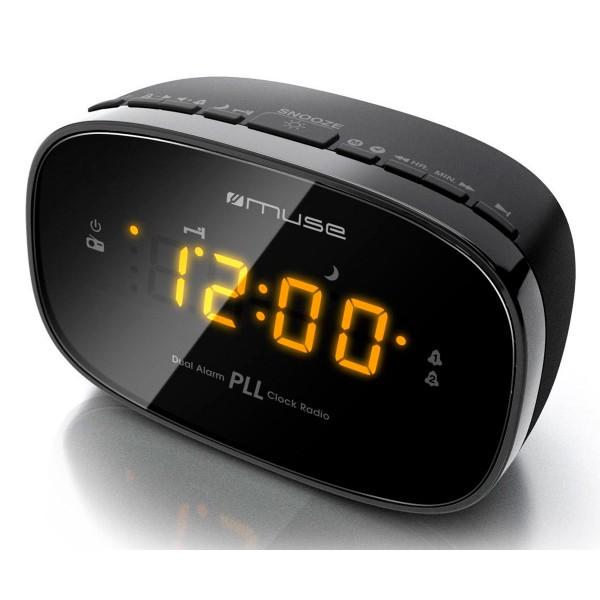 Muse m-150 cr negro radio analógica sobremesa fm snooze autosearch