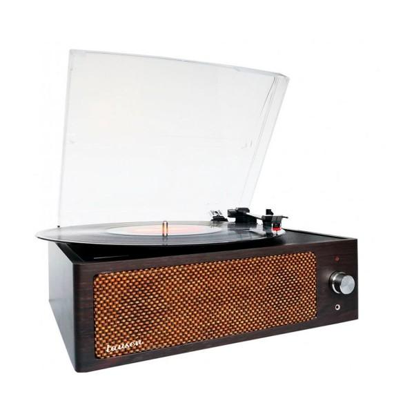 Lauson xn091 roble tocadiscos vintage 3 velocidades bluetooth usb grabación mp3 fm