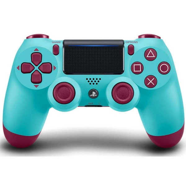 Sony dualshock 4 version 2 berry blue mando inalámbrico para ps4