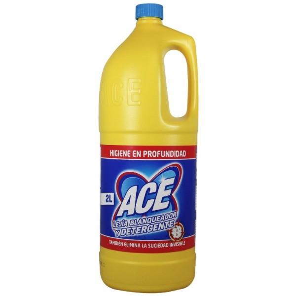 Ace lejía blanqueador + detergente 2 L