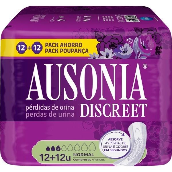 Ausonia Discreet compresas Normal 12 uds 2 x 1